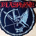 Blasphemy embroidered backpatch