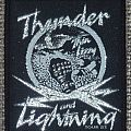 Thin Lizzy - Patch - Thin Lizzy Thunder and Lightning Tour '83 Woven Vintage Patches