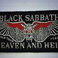 Black Sabbath - Patch - Black Sabbath Heaven and Hell World Tour Patch Black Border