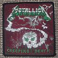METALLICA Creeping Death Woven Patch (green version w/ black border)