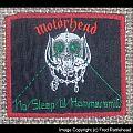 Motörhead No Sleep 'til Hammersmith Vintage Patch Red Border