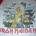 Iron Maiden Killers World Tour 1981 T-jersey (red & white) TShirt or Longsleeve