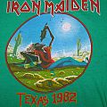 IRON MAIDEN  Texas 1982 rugby T-shirt (green)
