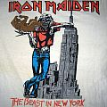 IRON MAIDEN The Beast In New York (white) T-shirt Tour82