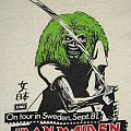 IRON MAIDEN On Tour in Sweden,Sept.81 promo T-shirt