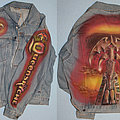Queensryche - Battle Jacket - Queensryche - Promised Land - custom airbrushed denim jacket signed by Geoff,...