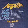Anthrax, We are the law, european tour 1987