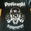 Onslaught - Slaughterfest Tour shirt 2013