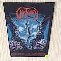 Obituary - Cause Of Death - 1990 Blue Grape Merchandising - Razamataz - Back Patch