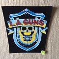 L.A. Guns - Patch - L.A.Guns - First Album - Logo - Short Version - Vintage Back Patch