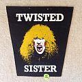 Twisted Sister - Dee Snider 1 - Black Border - Vintage Backpatch