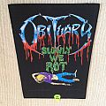 Obituary - Slowly We Rot - 1990 Blue Grape Merchandising - Back Patch