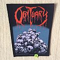Obituary - Pile Of Skulls - 1991 Blue Grape - Razamataz - Back Patch