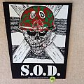 S.O.D. - Speak English Or Die - 1987 Bravado Merchandising Services - Backpatch