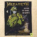 Megadeth - So far so good so what - Backpatch