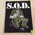 S.O.D. - Sargent D - Back Patch - 1991 Megaforce