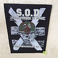 S.O.D. - Speak English Or Die - Boot Backpatch