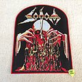 Sodom - Obsessed By Cruelty - Woven Backpatch - Red Border
