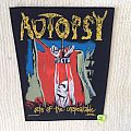Autopsy - Acts Of The Unspeakable - 1993 Peaceville Records - Razamataz - Back Patch
