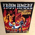 Iron Angel - Hellish Crossfire - Black Border - 2018 Burning Leather - Backpatch