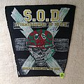 S.O.D. - Speak English Or Die - Yellow/Black - Vintage Backpatch