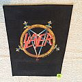 Slayer - Pentgram Logo - Second Version Without Blood Drops - 1990 Slayer - Brockum - Backpatch