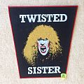 Twisted Sister - Dee Snider 1 - Red Border - Vintage Backpatch