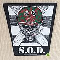 S.O.D. - Speak English Or Die - 1987 Bravado Merchandising - Back Patch