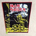 Iron Maiden - Sanctuary - Backpatch - Red Border