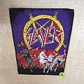 Slayer - Hell Awaits - Purple Version - Vintage Backpatch