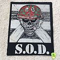 S.O.D. - Speak English Or Die - Vintage Back Patch