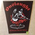Onslaught - Power From Hell - Backpatch