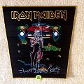 Iron Maiden - Somewhere On Tour - Gold Border - Backpatch (woven)