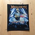 Megadeth - Patch - Megadeth back patch - Vic destroying Berlin Wall - Original Brockum Backpatch