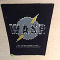 W.A.S.P. - Silver Chainsaw Logo - Vintage Backpatch
