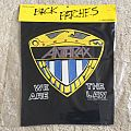 Anthrax - we are the law - Shield - 1988 Brockum Back Patch NEW