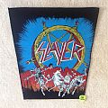 Slayer - Hell Awaits - Blue Version - Long Version - Vintage Backpatch