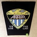 Anthrax - We Are The Law - Vintage Backpatch - Version 2