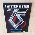Twisted Sister - Patch - Twisted Sister - You Can't Stop Rock 'N' Roll - Vintage Backpatch