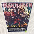 Iron Maiden - The Number Of The Beast - Black Version - Silver Logo - Vintage Back Patch - # 2