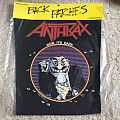 Anthrax - Now it's dark - 1989 Brockum Back Patch NEW
