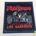 Night Demon - Live Darkness - ND/UNHP 2018 - Woven Backpatch - Blue Border