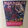 Iron Maiden - The Number Of The Beast - Red Version - Silver Logo -  Vintage Backpatch #4
