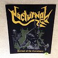 Nocturnal - Arrival Of The Carnivore - Woven Backpatch