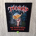 Tankard - Die With A Beer In Your Hand - 2013 Tankard - Razamataz - Back Patch