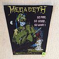 Megadeth - So Far, So Good... So What!? - Vintage Backpatch - Red Version