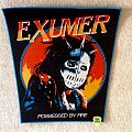 Exumer - Possessed By Fire - Blue Border - Woven Backpatch