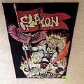 Saxon - Warrior - Vintage Backpatch