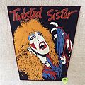 Twisted Sister - Dee Snider 2 - Red Border - Vintage Backpatch