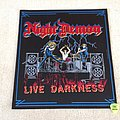 Night Demon - Live Darkness - ND/UNHP 2018 - Woven Backpatch - Black Border
